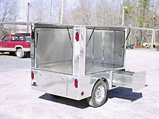 Farrier Trailer Doors open